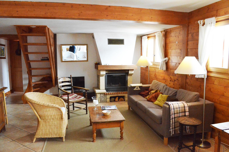 Luxe appartement la gr ce in les trois vall es meribel - Mezzanine woonkamer ...